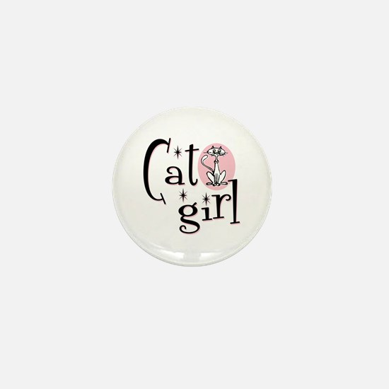 Cat Girl Mini Button