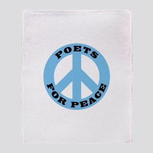 Poets Peace Throw Blanket