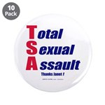 """Total Sexual Assault 3.5"""" Button (10 pack)"""