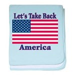 Take Back America baby blanket