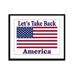 Take Back America Framed Panel Print