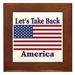 Take Back America Framed Tile