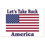 Take Back America Large Poster