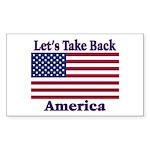 Take Back America Sticker (Rectangle 10 pk)
