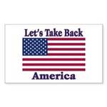 Take Back America Sticker (Rectangle 50 pk)