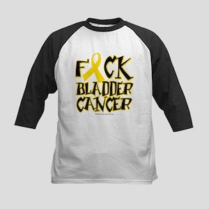 Fuck Bladder Cancer Kids Baseball Jersey