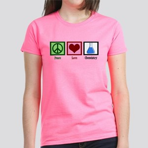 Peace Love Chemistry Women's Dark T-Shirt