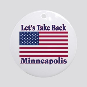 Take Back Minneapolis Ornament (Round)