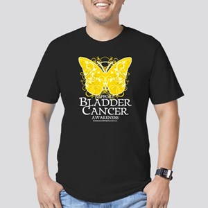 Bladder Cancer Butterfly Men's Fitted T-Shirt (dar