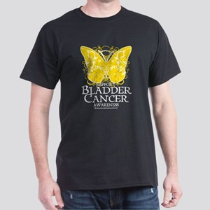 Bladder Cancer Butterfly Dark T-Shirt
