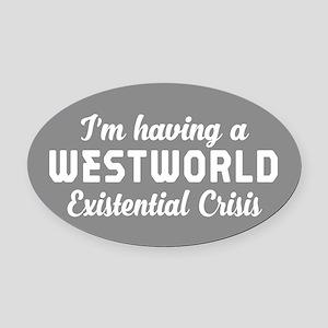 Westworld Existential Crisis Oval Car Magnet