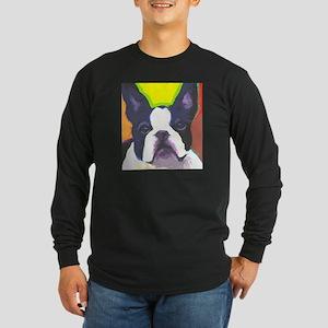 Frenchie Fun Long Sleeve Dark T-Shirt