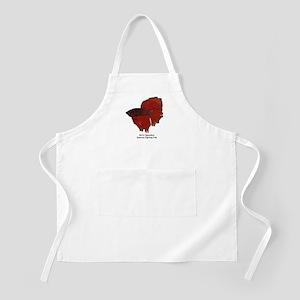 Red Betta Splendens -Siamese  BBQ Apron