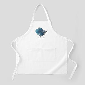 Blue Betta Splendens -Siamese BBQ Apron