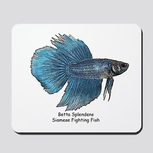 Blue Betta Splendens -Siamese Mousepad
