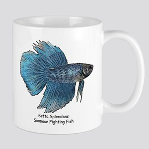 Blue Betta Splendens -Siamese Mug