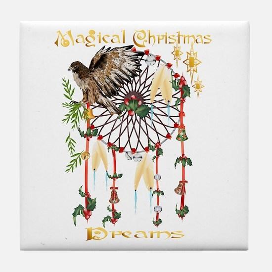 Magical Christmas Dreams Tile Coaster