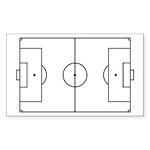 Soccer Field Sticker (Rectangle 10 pk)
