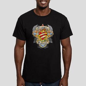 Bladder Cancer Cross & Heart Men's Fitted T-Shirt