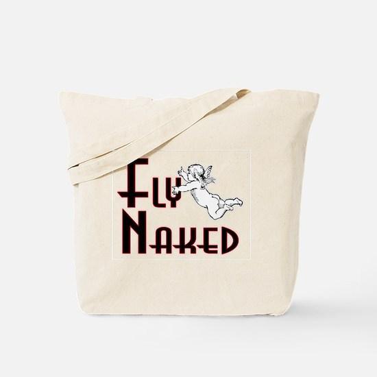 Flying Naked Tote Bag