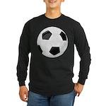 Soccer Ball Long Sleeve Dark T-Shirt