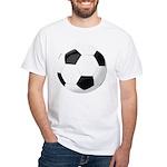Soccer Ball White T-Shirt