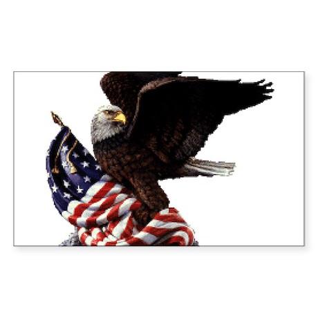 Eagle's America Sticker (Rectangle)