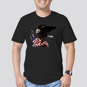 Eagle's America Men's Fitted T-Shirt (dark)