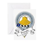 Pringle Clan Badge Greeting Cards (Pk of 10)