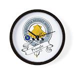 Pringle Clan Badge Wall Clock