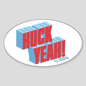 Huck Yeah Eldora Sticker (Oval)