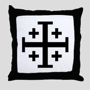 Jerusalem cross Throw Pillow