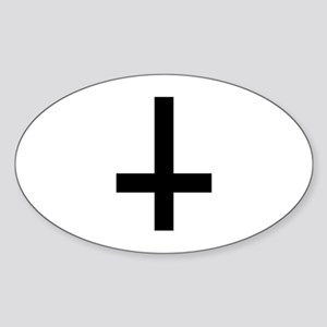 Cross antichrist Sticker (Oval)