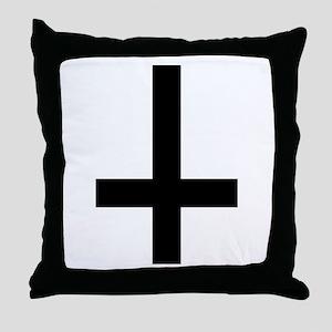 Cross antichrist Throw Pillow