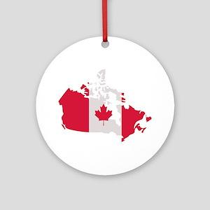 Canada map flag Ornament (Round)