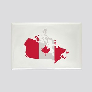 Canada map flag Rectangle Magnet