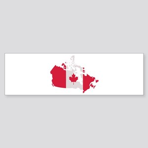 Canada map flag Sticker (Bumper)