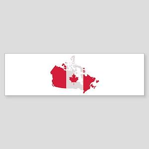 Canada map flag Sticker (Bumper)