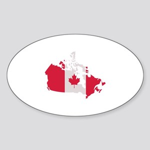 Canada map flag Sticker (Oval)