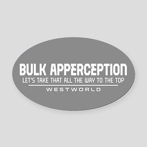 Westworld Bulk Apperception Oval Car Magnet