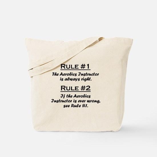 Aerobics Instructor Tote Bag