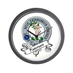 Paterson Clan Badge Wall Clock