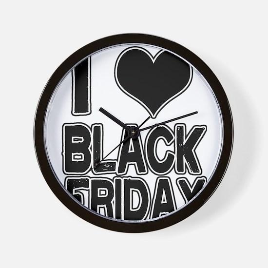 Love Black Friday Wall Clock