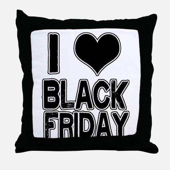 Love Black Friday Throw Pillow