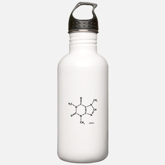 2D Caffeine Molecule Sports Water Bottle
