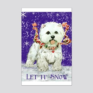 West Highland Let it Snow Mini Poster Print