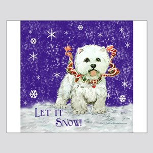 West Highland Let it Snow Small Poster