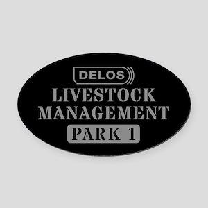 Westworld Livestock Management Oval Car Magnet
