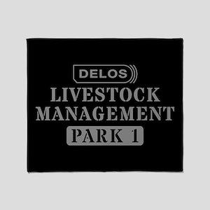Westworld Livestock Management Throw Blanket