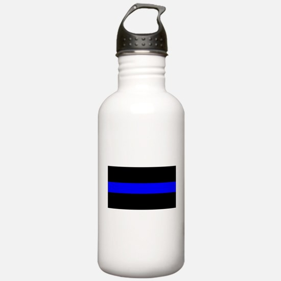 Thin Blue Line Police Water Bottle